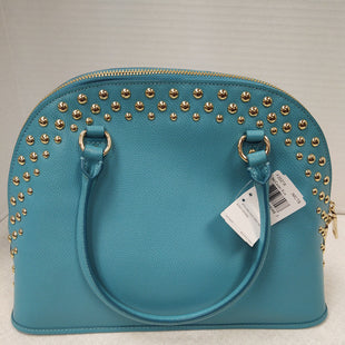 Primary Photo - BRAND: COACH STYLE: HANDBAG DESIGNER COLOR: TEAL SIZE: LARGE OTHER INFO: STUDDED CORA SKU: 133-13355-34196