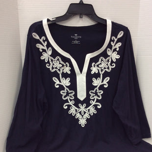 Primary Photo - BRAND: TALBOTS O STYLE: TOP LONG SLEEVE COLOR: NAVY SIZE: 2X SKU: 133-13316-110096