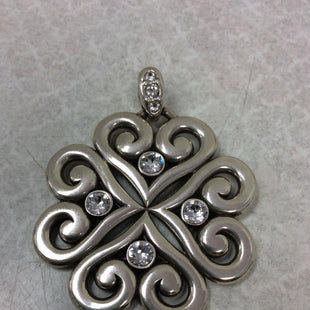 Primary Photo - BRAND: BRIGHTON STYLE: PENDANTCOLOR: SILVER OTHER INFO: PENDANT SKU: 133-13350-39780BRIGHTON SILVER TONE MULTI HEARTS COME TOGETHER TO FORM A FLOWER WITH A BAIL.IT IS REVERSIBLE AND ONE SIDE HAS SWAROVSKI CRYSTALS SET IN EACH HEART SHAPED SECTION.