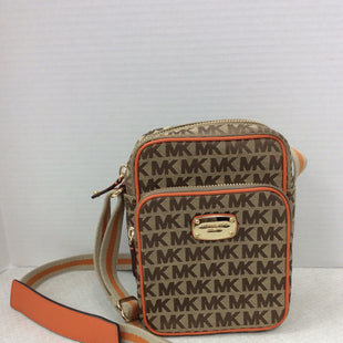 Primary Photo - BRAND: MICHAEL KORS STYLE: HANDBAG DESIGNER COLOR: ORANGE SIZE: SMALL SKU: 133-13355-33951ROOMY AND ORGANIZED! PICK UP THIS SIGNATURE MICHAEL KORS CROSSBODY HANDBAG WITH A ADJUSTABLE CANVAS STRAP! THE OPPORTUNITY OF ORANGE IS FRESH AND FUN POP OF COLOR!