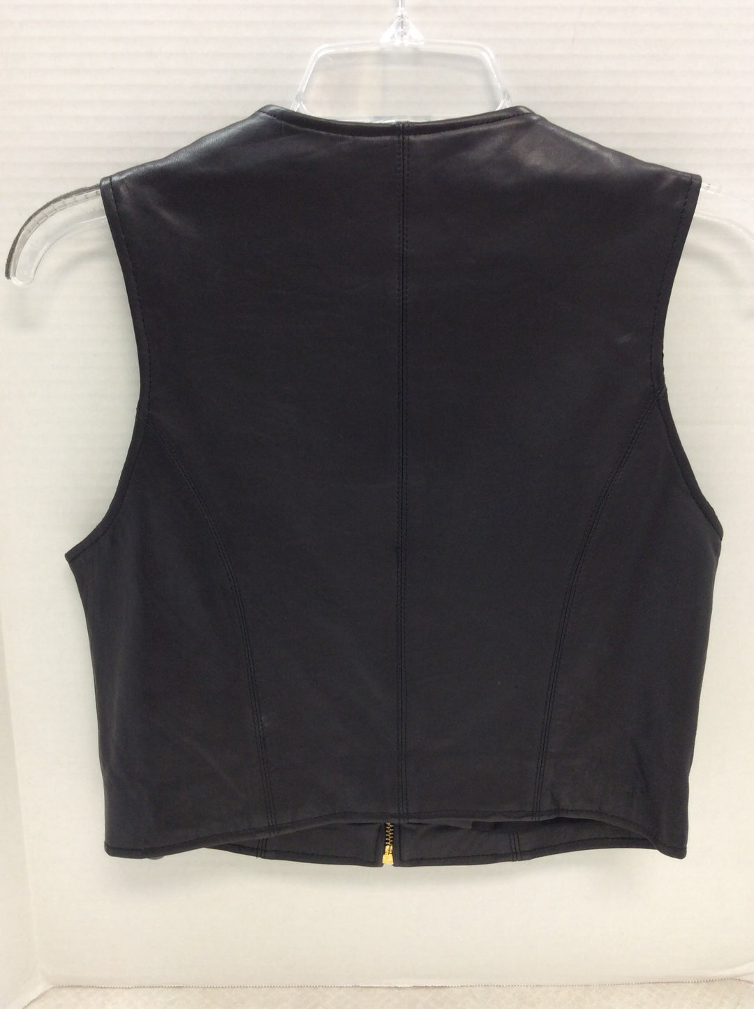 Photo #1 - BRAND: STUDIO <BR>STYLE: VEST <BR>COLOR: BLACK <BR>SIZE: S <BR>OTHER INFO: LEATHER <BR>SKU: 133-13373-12063
