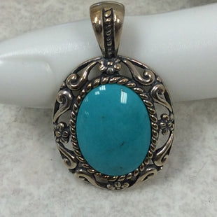 Primary Photo - BRAND:  CMB STYLE: PIN COLOR: STERLING SILVER SIZE: OS OTHER INFO: TURQUOISE PENDANT - SKU: 133-13374-2402