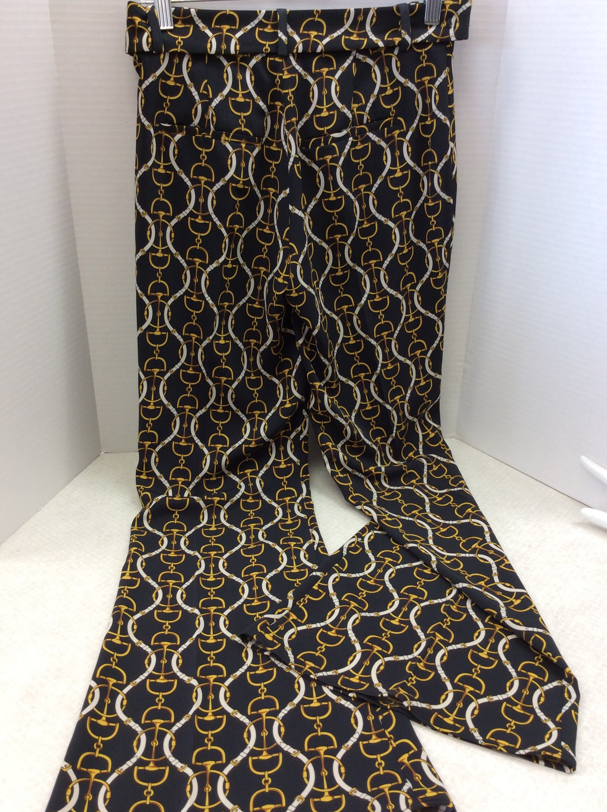 Photo #2 - BRAND: ZARA BASIC <BR>STYLE: PANTS <BR>COLOR: BLACK <BR>SIZE: XS <BR>SKU: 133-13341-41436<BR>WHAT A FUN MODERN TWIST ON A CLASSIC EQUESTRIAN PRINT PANT! SO ON TREND!