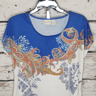 Primary Photo - BRAND: CHICOS STYLE: TOP SHORT SLEEVE COLOR: BLUE WHITE SIZE: S SKU: 133-13374-2783