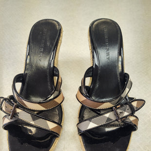 Primary Photo - BRAND: BURBERRY STYLE: SANDALS LOW COLOR: PLAID SIZE: 10 OTHER INFO: BURBERRY PLAID WEDGE SLIDE SKU: 133-13373-10502ESPADRILLE