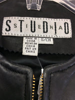 Photo #3 - BRAND: STUDIO <BR>STYLE: VEST <BR>COLOR: BLACK <BR>SIZE: S <BR>OTHER INFO: LEATHER <BR>SKU: 133-13373-12063