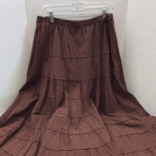 Primary Photo - BRAND: MULTIPLES STYLE: SKIRT COLOR: BROWN SIZE: L SKU: 133-13374-1621BEAUTIFUL FULL RUSTY BROWN SKIRT. LOOKS GREAT WITH BOOTS! SEE IT STYLED IN LAST PHOTOS ( ITEMS IN THE STYLES PHOTS ARE SOLD SEPARATELY AND ARE NOT INCLUDED IN THE SALE OF THE SKIRT)