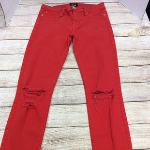 Primary Photo - BRAND: HUDSON STYLE: PANTS COLOR: RED SIZE: 4 SKU: 133-13377-829GREAT BRIGHT COLOR TO ADD TO YOUR WARDROBE WITH JUST THE RIGHT AMOUNT OF DISTRESSING.