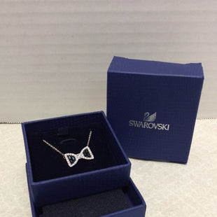 Primary Photo - BRAND: SWAROVSKI STYLE: NECKLACE COLOR: BLACK SILVER OTHER INFO: SUE- BLACK CLEAR BOW NECKLACE SKU: 133-13373-12997