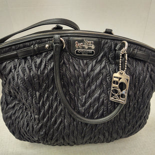 Primary Photo - BRAND: COACH STYLE: HANDBAG DESIGNER COLOR: BLACK SIZE: LARGE OTHER INFO: MADISON CHEVRON SKU: 133-13373-11528F1176-18634DUST BAG