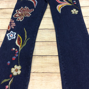 Primary Photo - BRAND: MANDALAYSTYLE: JEANS COLOR: DENIM SIZE: 8 OTHER INFO: MANDALAY - SKU: 133-13341-43180JUST CHECK OUT THE EMBROIDERY ON THESE AMAZING DARK WASH FLARE LEG JEANS! THEY CHECK ALL THE STYLE BOXES AND MAKE A FUN AND FABULOUS STYLE STATEMENT!