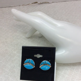 Primary Photo - BRAND: MEXICAN 925 E LUNASSTYLE: EARRINGS COLOR: STERLING SILVER OTHER INFO: E LUNAS- MEXICAN SILVER - TURQUOISE AND MEXICAN STERLING SILVER 925 SKU: 133-13373-13038
