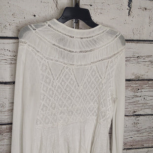 Primary Photo - BRAND: FREE PEOPLE STYLE: TOP LONG SLEEVE COLOR: OFF WHITE SIZE: S SKU: 133-13371-1498173% COTTON, 27% POLYESTER