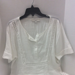 Primary Photo - BRAND: ANN TAYLOR LOFT O STYLE: TOP SHORT SLEEVE COLOR: WHITE SIZE: M SKU: 133-13355-34886