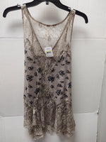 Primary Photo - BRAND: FREE PEOPLE <BR>STYLE: TOP SLEEVELESS <BR>COLOR: STONE <BR>SIZE: M <BR>OTHER INFO: NEW! <BR>SKU: 133-13350-40243