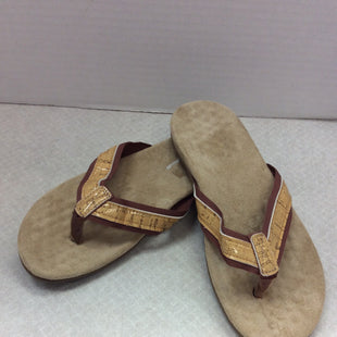 Primary Photo - BRAND:    CLOTHES MENTOR STYLE: SANDALS FLAT COLOR: CAMEL SIZE: 7 OTHER INFO: NO BRAND - SKU: 133-13374-2831