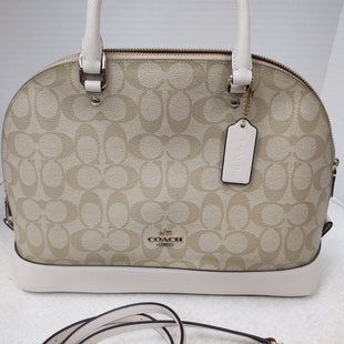 Primary Photo - BRAND: COACH STYLE: HANDBAG DESIGNER COLOR: BEIGE SIZE: LARGE OTHER INFO: SIGNATURE SIERRA SKU: 133-13355-34198