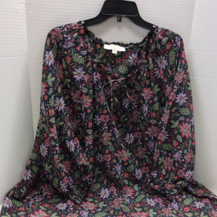Primary Photo - BRAND: ANN TAYLOR LOFT STYLE: TOP LONG SLEEVE COLOR: FLORAL SIZE: 2X SKU: 133-13316-110315FLORAL PRINT BLOUSE TIE NECK GATHERED SLEEVE SIZE 20 .