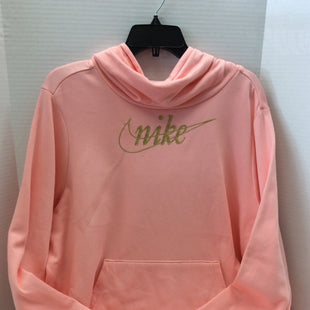 Primary Photo - BRAND: NIKE STYLE: SWEATSHIRT HOODIE COLOR: PINK SIZE: 1X SKU: 133-13373-11632THIS IS A PEACHY PINK PULL OVER NIKE HOODIE.
