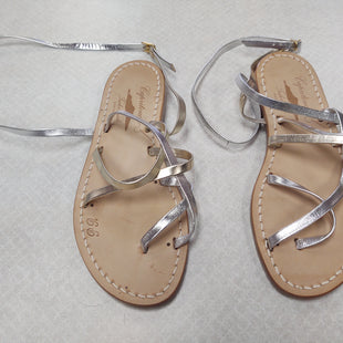 Primary Photo - BRAND:    CLOTHES MENTOR STYLE: SANDALS FLAT COLOR: METALLIC SIZE: 7 OTHER INFO: CAPRITOUCH - GOLD SILVER ITALY LEATHER SKU: 133-13373-10625