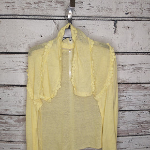 Primary Photo - BRAND: KNITTED AND KNOTTED STYLE: SWEATER CARDIGAN LIGHTWEIGHT COLOR: YELLOW SIZE: M SKU: 133-13316-116198