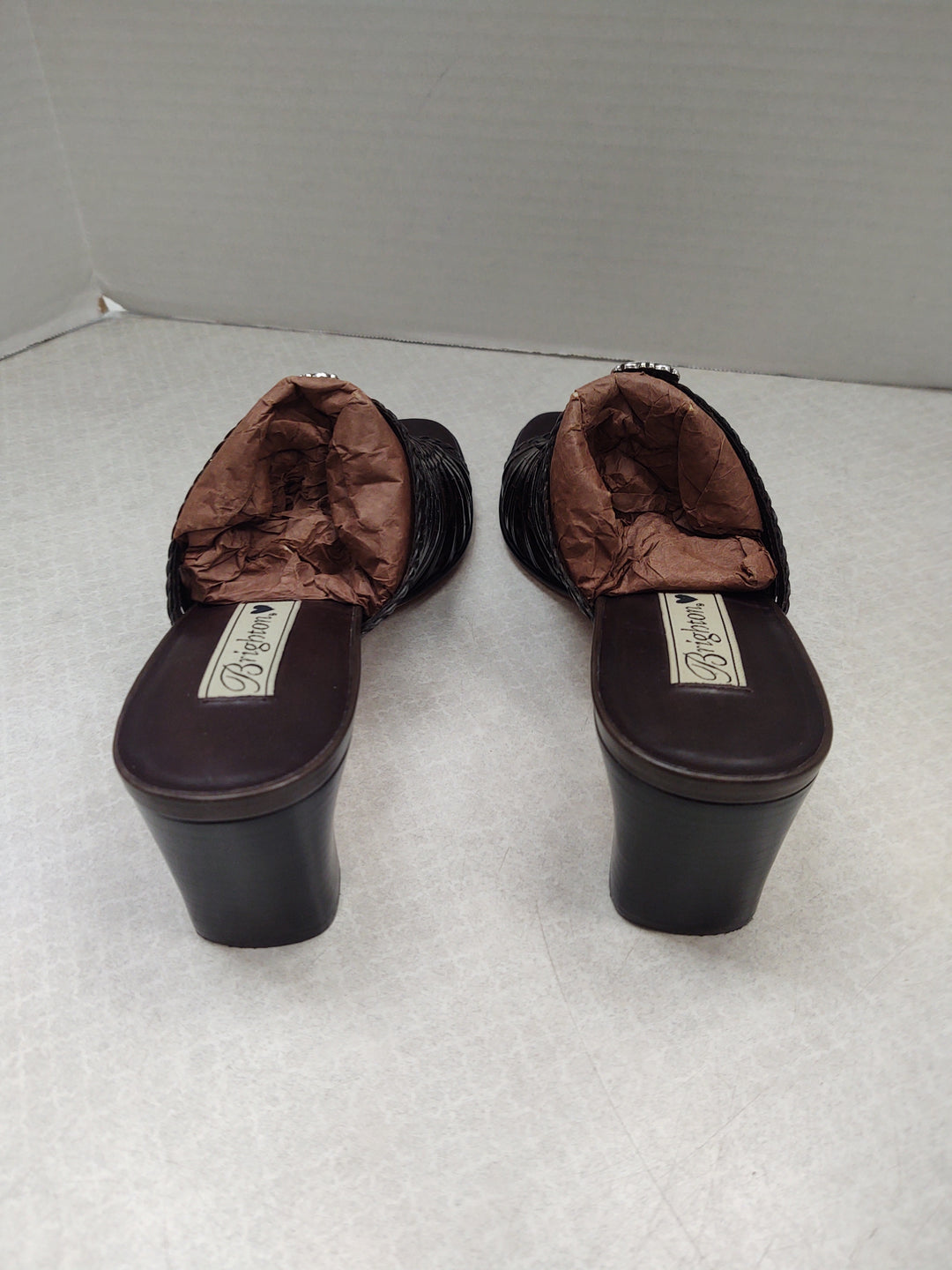 Photo #2 - BRAND: BRIGHTON O <BR>STYLE: SANDALS LOW <BR>COLOR: BROWN <BR>SIZE: 9.5 <BR>SKU: 133-13316-112779