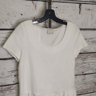 Primary Photo - BRAND:    ANTHROPOLOGIESTYLE: TOP SHORT SLEEVE COLOR: OFF WHITE SIZE: S SKU: 133-13379-112POSTMARK