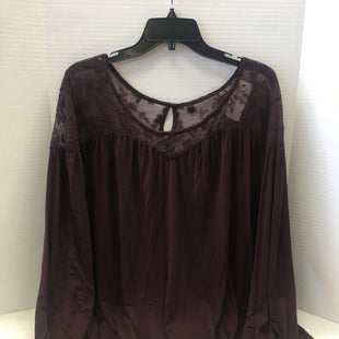 Primary Photo - BRAND: LANE BRYANT STYLE: TOP LONG SLEEVE COLOR: PLUM SIZE: 2X OTHER INFO: NEW! SKU: 133-13316-111504