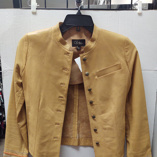 Primary Photo - BRAND: COLE-HAAN O STYLE: JACKET LEATHER COLOR: TAN SIZE: XS SKU: 133-13355-32843