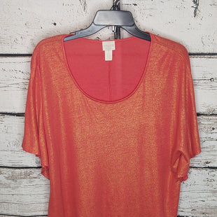 Primary Photo - BRAND: CHICOS STYLE: TOP SHORT SLEEVE COLOR: ORANGE SIZE: L SKU: 133-13371-15167