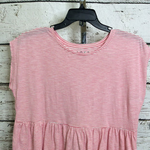 Primary Photo - BRAND: LOFT STYLE: TOP SHORT SLEEVE COLOR: WHITE PINK SIZE: M OTHER INFO: NEW! SKU: 133-13350-40933
