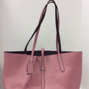 Primary Photo - BRAND: COACH STYLE: TOTE COLOR: PINK SIZE: MEDIUM SKU: 133-13341-44350 AS IS = INTERIOR MINOR SPOTTING  ON POCKET