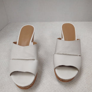Primary Photo - BRAND: FRANCO SARTO STYLE: SANDALS HIGH COLOR: WHITE SIZE: 8 SKU: 133-13316-106101 1/2 INCH PLATFORM 3 IN. WEDGE HEEL