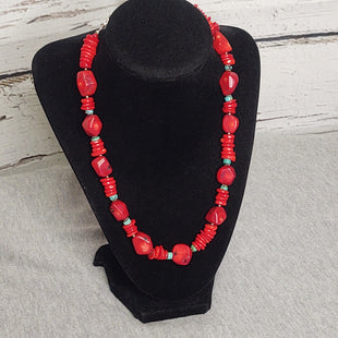 Primary Photo - BRAND: BARSE STYLE: NECKLACE SET COLOR: RED GREEN SIZE: 02 PIECE SET SKU: 133-13316-115997STERLING SILVER