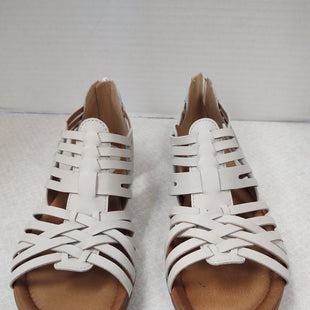 Primary Photo - BRAND: EARTH STYLE: SANDALS FLAT COLOR: WHITE SIZE: 8.5 OTHER INFO: NEW! WOVEN, ZIP BACK SKU: 133-13373-13857