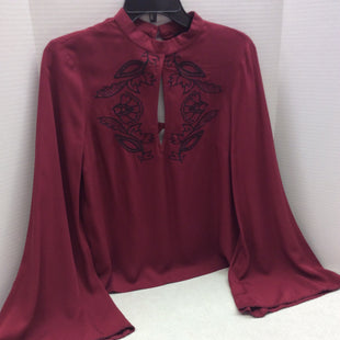 Primary Photo - BRAND: MINKPINK STYLE: TOP LONG SLEEVE COLOR: BRICK RED SIZE: XS SKU: 133-13316-110232SUCH PRETTY DETAILS ON THIS BELL SLEEVE BLOUSE WITH FLORAL MOTIF EMBROIDERY!