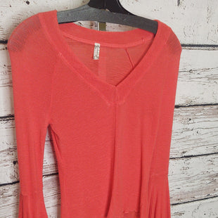 Primary Photo - BRAND: FREE PEOPLE STYLE: TOP LONG SLEEVE COLOR: ORANGE SIZE: S SKU: 133-13316-11416895% RAYON 5% SATIN