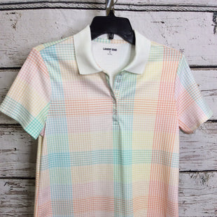 Primary Photo - BRAND: LANDS END STYLE: TOP SHORT SLEEVE COLOR: PLAID SIZE: M SKU: 133-13355-34663