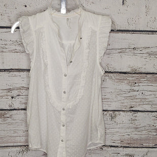 Primary Photo - BRAND: ANTHROPOLOGIE STYLE: TOP SHORT SLEEVE COLOR: IVORY SIZE: XS OTHER INFO: FEATHER BONE SKU: 133-13355-35716