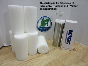 Cup-A-Saurus™®  Foam Tastic 6x3 - 10 Piece White Foam Only *NEW SIZE*