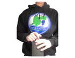 Load image into Gallery viewer, cup-a-saurus hoodie on model