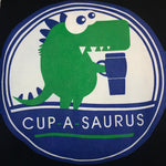 Load image into Gallery viewer, cup-a-saurus logo printed