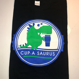 cup-a-saurus t-shirt with logo