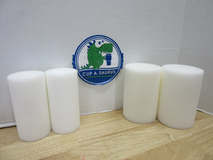 Cup-A-Saurus™®  Foam Tastic 8 piece COMBO PACK - 4-6x3  AND 4-6x4 White Foam Only *NEW SIZE*