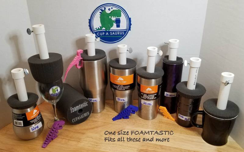 Cup-A-Saurus™® FOAM-TASTIC 6x4  - 9 Pack Foam and Spindle (new color)