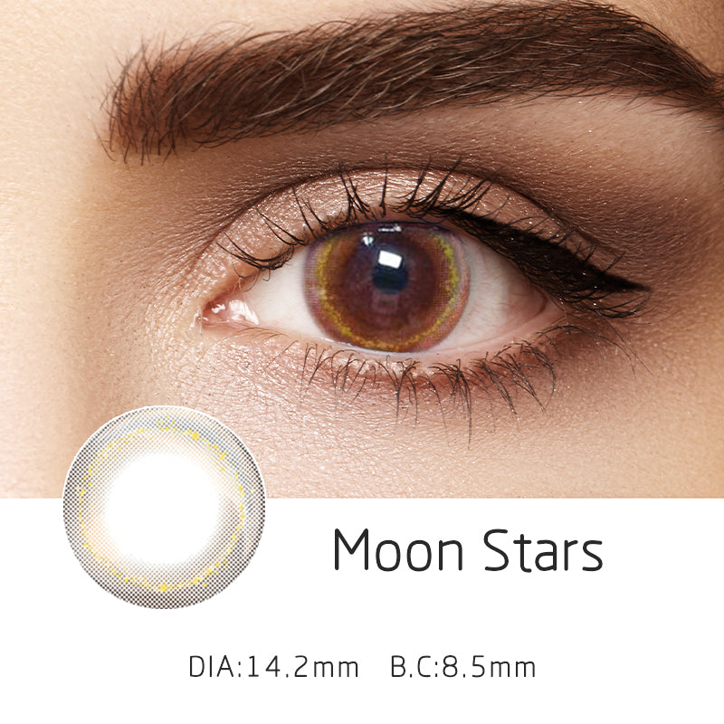Mrs. H Colored Contact Lenses Moon stars 14.20mm 1 Pair