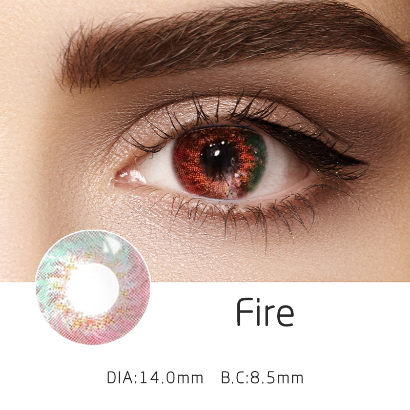 Mrs. H Colored Contact Lenses Fire 14mm 1 Pair