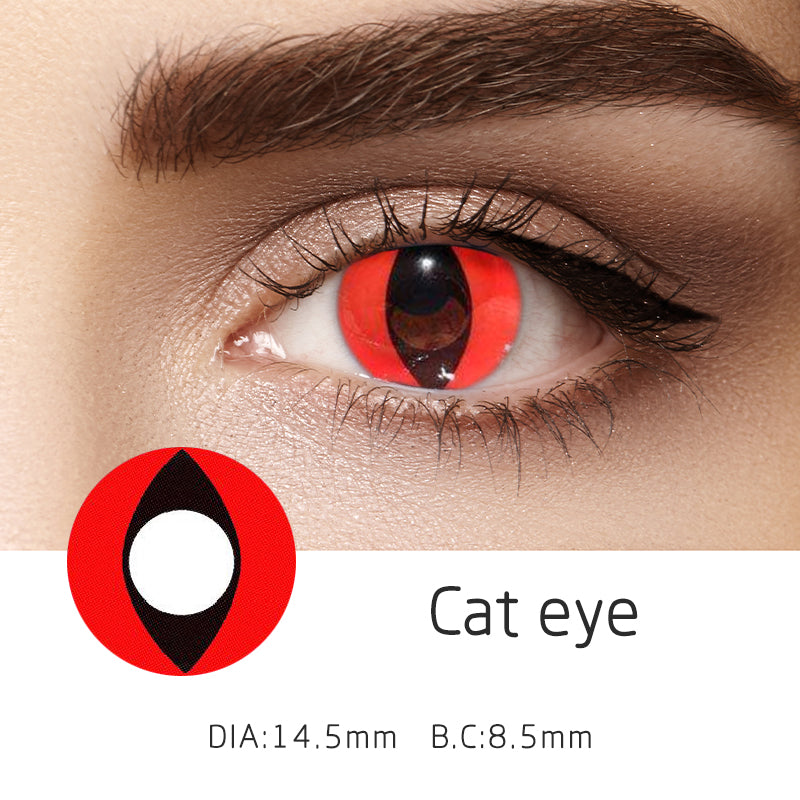 Mrs. H Colored Contact Lenses cat eye 14.5mm 1 Pair