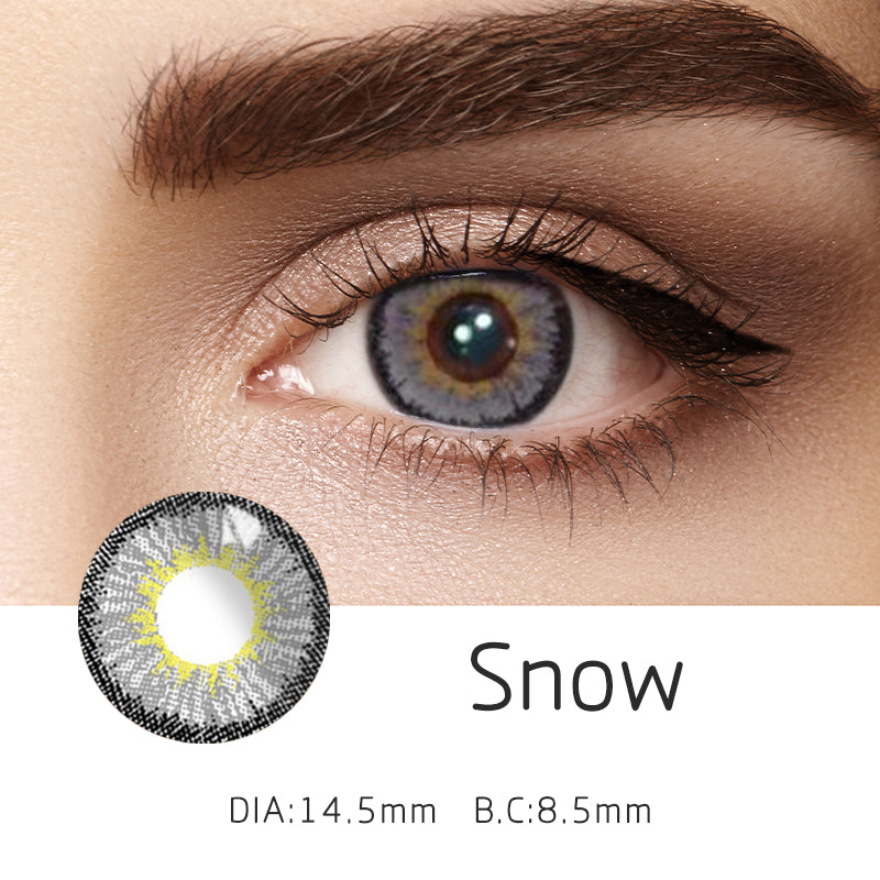 Mrs. H Colored Contact Lenses Snow Diameter 14.5mm 1 Pair