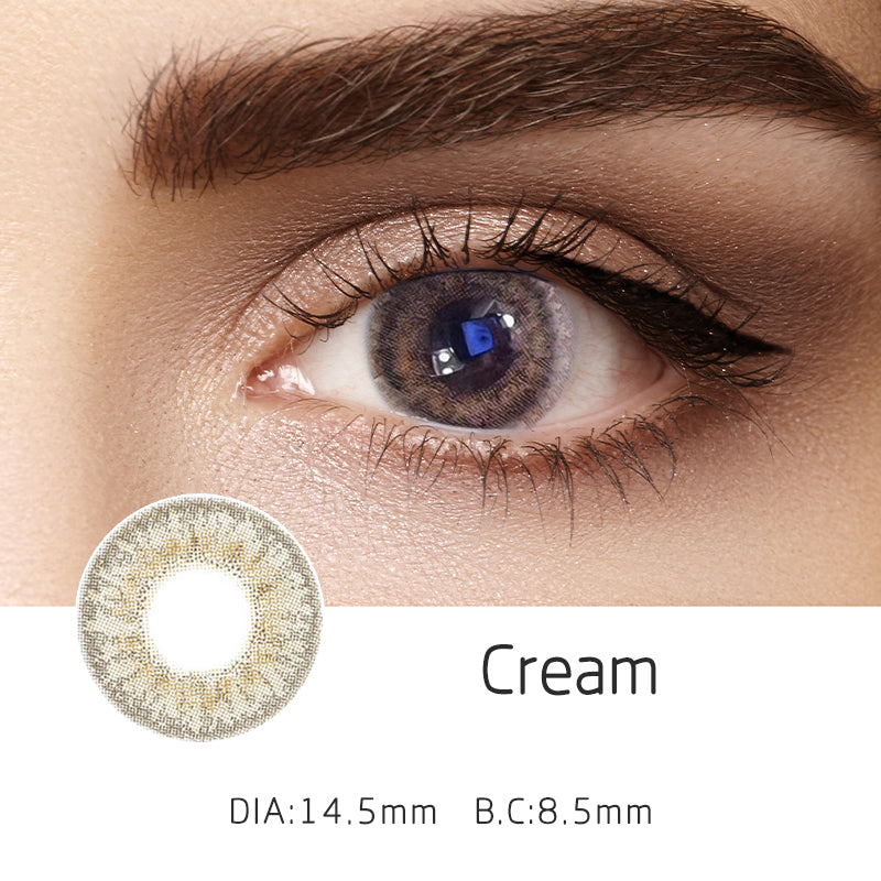 Mrs. H Colored Contact Lenses Cream 14.50mm 1 Pair